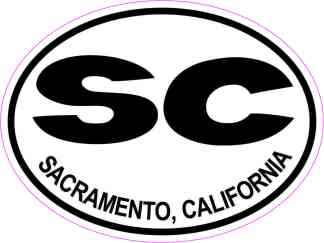 Oval SC Sacramento California Sticker