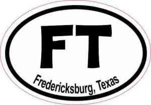 Oval FT Fredericksburg Texas Sticker