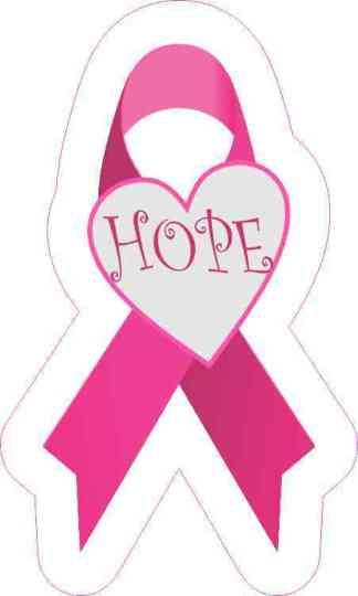 Hope Breast Cancer Ribbon Sticker