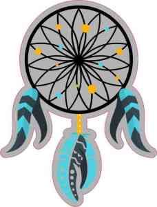 Gold and Turquoise Dream Catcher Sticker