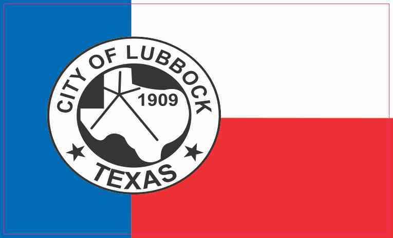 Lubbock Texas Flag Magnet
