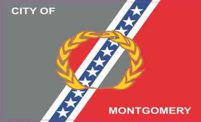 Montgomery Alabama Flag Sticker