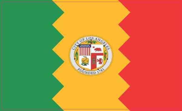 Los Angeles California Flag Sticker