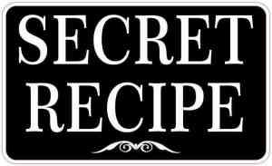 Secret Recipe Sticker
