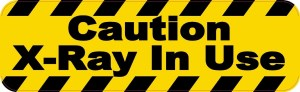 Caution X-Ray In Use Magnet