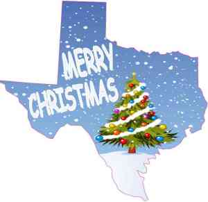 Texas Merry Christmas Sticker