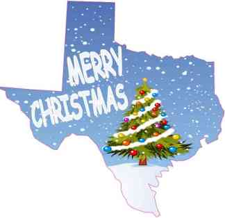 Texas Merry Christmas Sticker