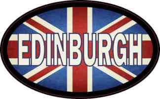 Oval UK Flag Edinburgh Sticker