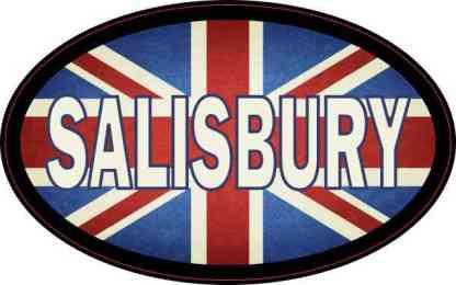 Oval UK Flag Salisbury Sticker