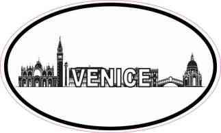 Oval Venice Skyline Sticker