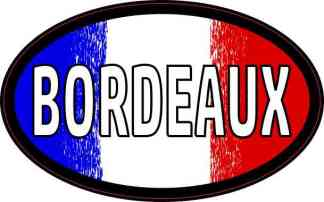 Oval French Flag Bordeaux Sticker