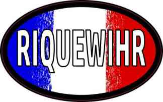 Oval French Flag Riquewihr Sticker