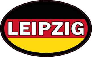 Oval German Flag Leipzig Sticker