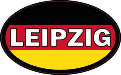 Oval German Flag Leipzig Sticker