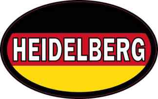 Oval German Flag Heidelberg Sticker