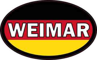 Oval German Flag Weimar Sticker
