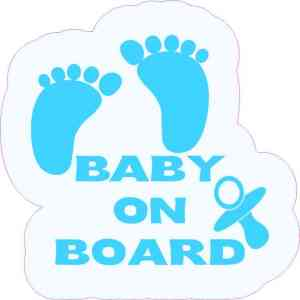 Blue Pacifier Baby on Board Sticker