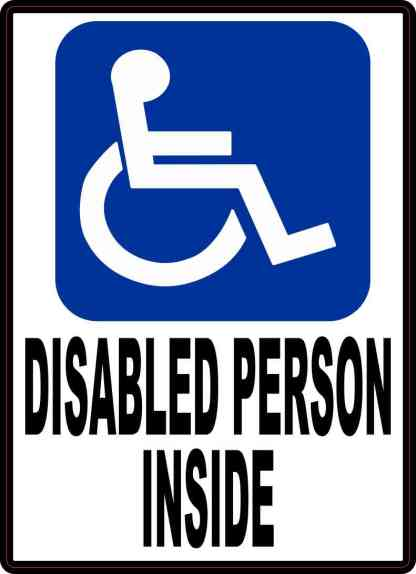 Disabled Person Inside Sticker