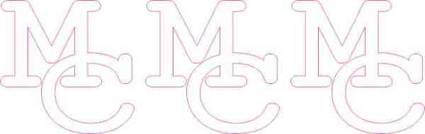 Bold Interlocked MC Moffat County Stickers