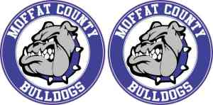 Circle Moffat County Bulldogs Stickers