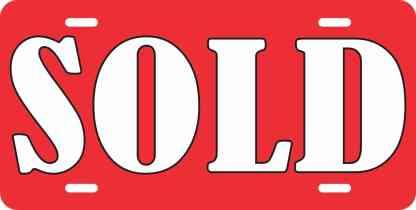 Sold Aluminum Sign