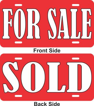 Double Sided For Sale Sold Aluminum Sign