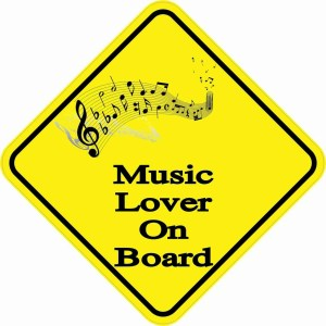Music Lover On Board Sticker