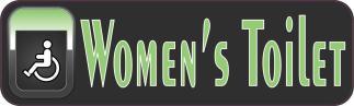 Handicap Women's Toilet Sticker