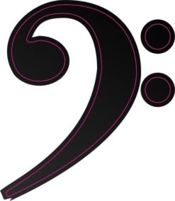 Black Bass Clef Sticker