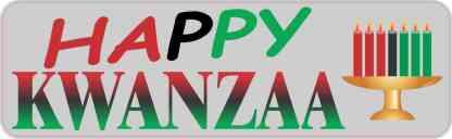 Happy Kwanzaa Magnet
