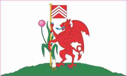 Cardiff Flag Magnet