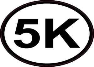 Oval 5K Sticker