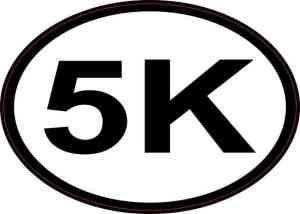 Oval 5K Sticker