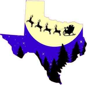 Texas Santa Claus Sticker