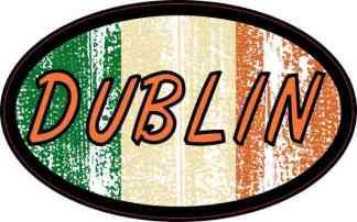 Oval Irish Flag Dublin Sticker