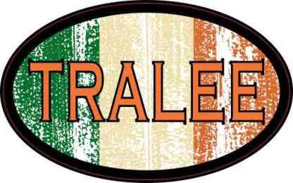 Oval Irish Flag Tralee Sticker