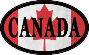 Flag Oval Canada Sticker