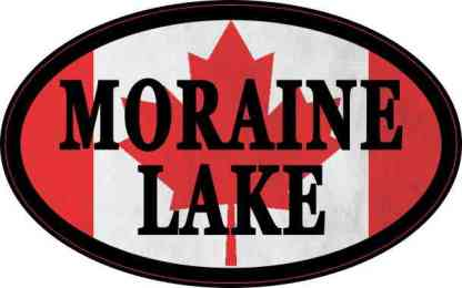 Oval Canadian Flag Moraine Lake Sticker