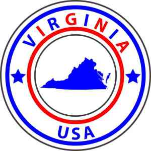 State Circle Virginia Sticker