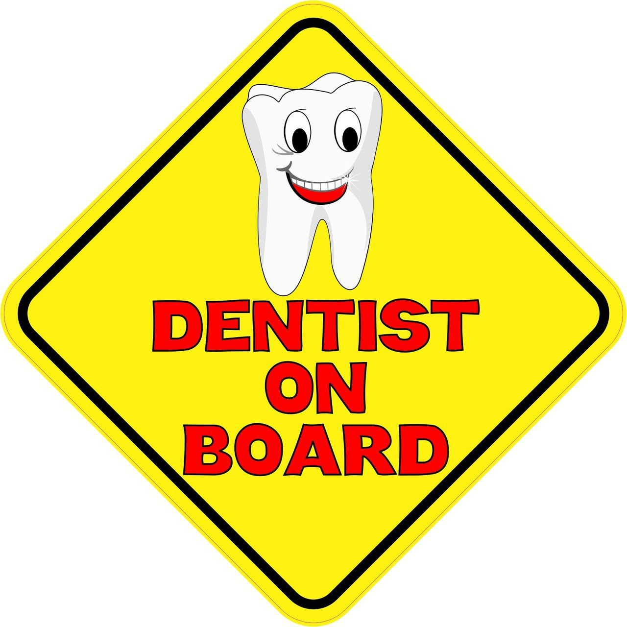 Dentist On Board Sticker