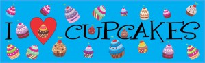 Blue I Love Cupcakes Magnet