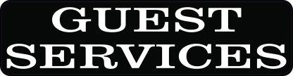 Guest Services Sticker