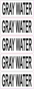 Clear Gray Water Stickers