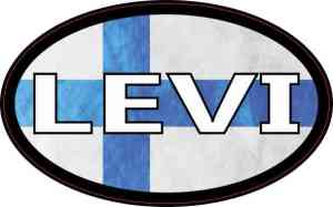 Oval Finnish Flag Levi Sticker