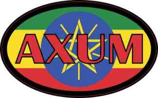Oval Ethiopian Flag Axum Sticker