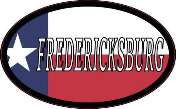 Oval Texan Flag Fredericksburg Sticker
