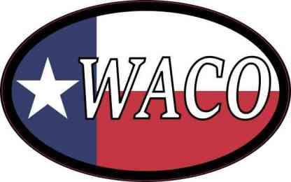 Oval Texan Flag Waco Sticker
