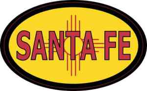 Oval New Mexico Flag Santa Fe Sticker