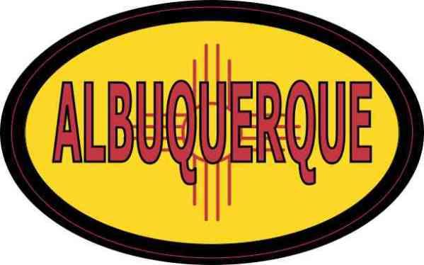 Oval New Mexico Flag Albuquerque Sticker