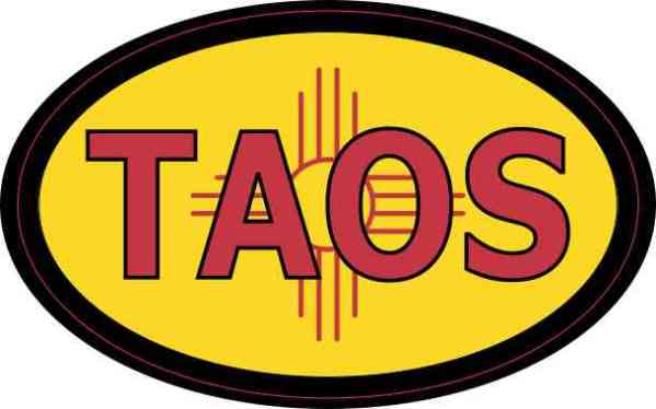 Oval New Mexico Flag Taos Sticker